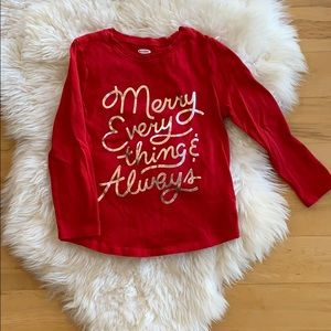 Old Navy long sleeve tee, size 4T